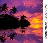 Tropical beach on Hawaii - stock photo