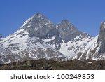 Alps mountains in Italy, Diavolo summit - stock photo