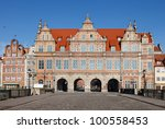 Green Gate in Gdansk, Poland. - stock photo