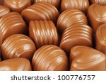 Assorted chocolate candies background - stock photo
