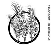 Doodle style sheaf of wheat illustration in vector format - stock vector