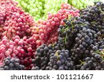 A group of grapes - stock photo