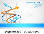 illustration of abstract futuristic background with arrow - stock vector