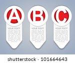 ABC vertical vector progress icons in White - stock vector