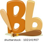 Illustration Featuring the Letter B - stock vector