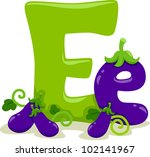 Illustration Featuring the Letter E - stock vector