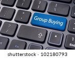 concept of group buying, new trend of online shopping. - stock photo