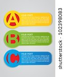 ABC Vector Labels - stock vector