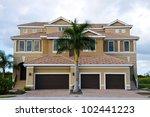 Large New Luxury Beach House - stock photo