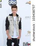 LAS VEGAS - MAY 20: Justin Bieber at the 2012 Billboard Music Awards held at the MGM Grand Garden Arena on May 20, 2012 in Las Vegas, Nevada - stock photo