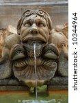 Statue fountain in Rome, Italy - stock photo