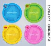 ABC Progress circular colorful labels in vectors - stock vector