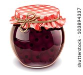 cherry jam - stock vector
