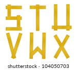 Letter from wood board alphabet. There is a clipping path - stock photo