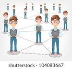 Social Network Concept. Grey Gradient Background. Vector EPS 10. - stock vector