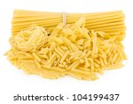 Pasta. Isolated on white background - stock photo