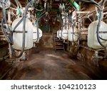 Abandoned modern semi-automatic milking stall - stock photo