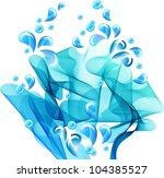 Water splash, vector abstract background - stock vector