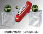 strategy knowledge action making right direction for success / strategy action success - stock photo