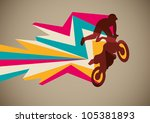 Extreme motorcycling poster. Vector illustration. - stock vector