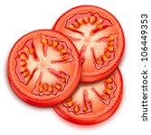 a slice of tomato-vector - stock vector