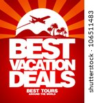 Best vacation deals advertising design template - stock vector
