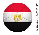 Egypt Flag Pattern 3d rendering of a soccer ball - stock photo