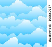 Raster version. Seamless texture of beautiful clouds. Illustration for design - stock photo