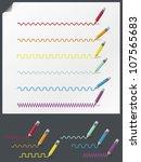 Color Pencils - stock vector