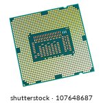 Computer processor - isolated on a white background - stock photo