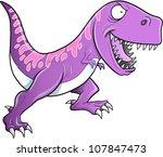 Crazy Tyrannosaurus Dinosaur Vector Illustration - stock vector