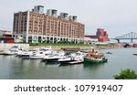 Downtown Montreal Waterfront in Canada - stock photo