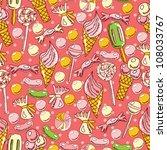sweet seamless pattern - stock vector