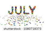 July happy illustration. 3d rendering. - stock photo