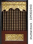 Window wood cage of  temple ,Thailand - stock photo