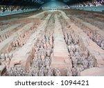 Terra Cotta Warriors, Xian, China - stock photo