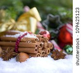 Christmas time, spices - stock photo
