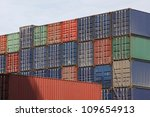 ship containers - stock photo