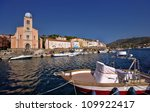 Port Vendres in France region Languedoc-Roussillon - stock photo