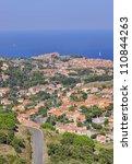 View of Collioure, Vermilion coast, France - stock photo
