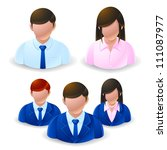 people icons - user group network - stock vector