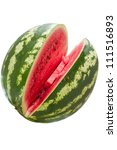 Sliced �¢??�¢??ripe watermelon isolated on white background - stock photo