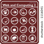 Web and Computing icons. - stock vector