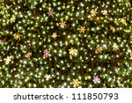 christmas background from color xmas lights - stock photo