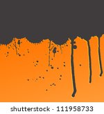 Ink strip with copy space and splashes vector background - stock vector