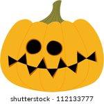 halloween pumpkin yellow - stock vector