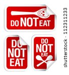 No eating and drinking sign. - stock vector