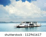 Ferry boat in Thailand - stock photo