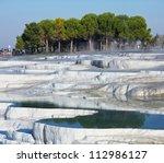 Pamukkale in Turkey - stock photo