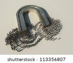 magnetic separation society - stock photo